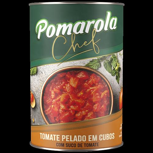 MOLHO POMAROLA TOM PELADO CUBO 400GR