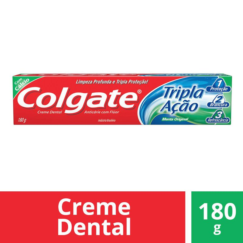 CR DENTAL COLGATE TRI ACAO ORIG 180G