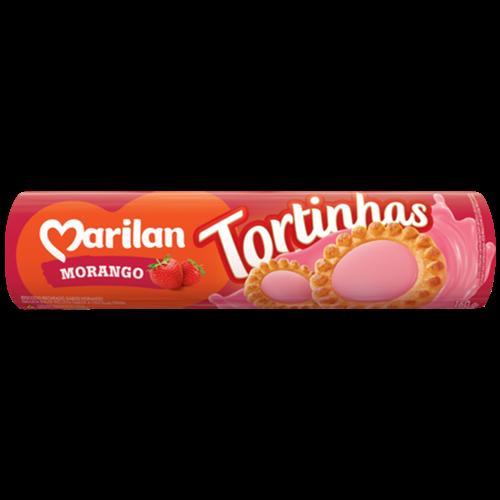 BISC MARILAN TORTINHA MORANGO 160G