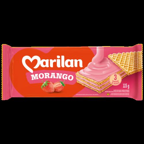 BISC MARILAN WAFER MORANGO 115G