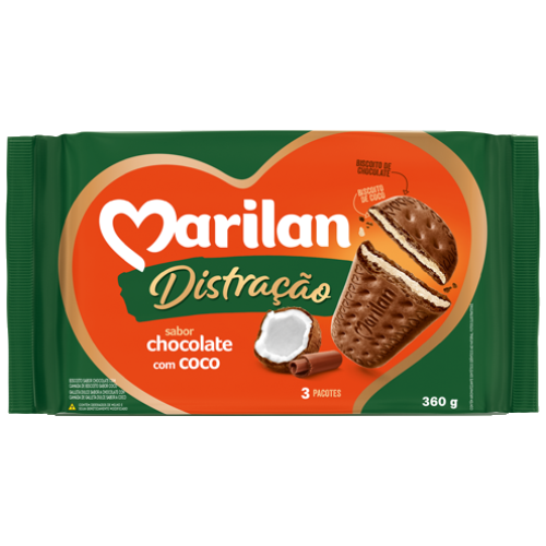 BISC MARILAN DISTRAC CHOCOLATE/COCO 360G