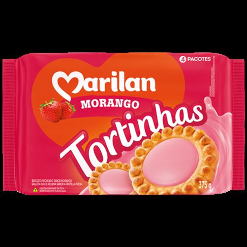BISC MARILAN TORTINHA MORANGO 375G