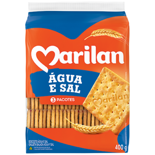 BISC MARILAN CREAM CRACK AGUA E SAL 400G