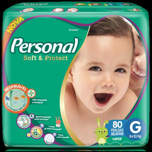 FRALDA PERSONAL BABY HIPER G 1X80UN