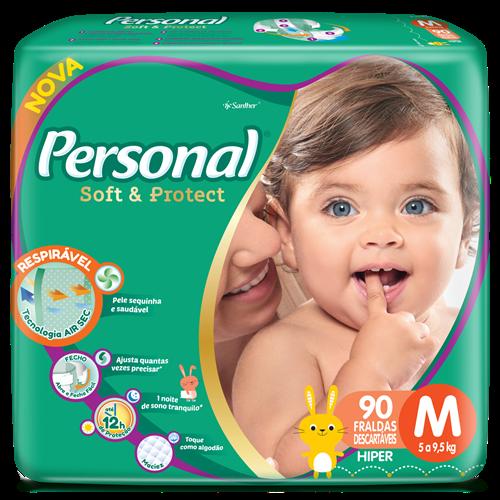 FRALDA PERSONAL BABY HIPER M 1X90UN