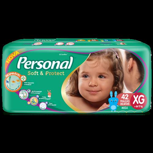 FRALDA PERSONAL BABY MEGA XG 1X42UN
