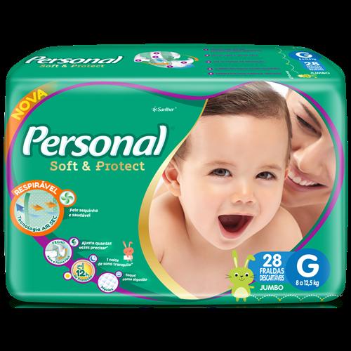 FRALDA PERSONAL BABY JUMBO G 1X28UN