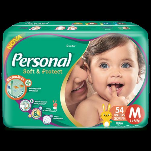 FRALDA PERSONAL BABY MEGA M 1X54UN
