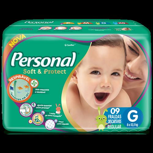 FRALDA PERSONAL BABY REGULAR G 1X9UN