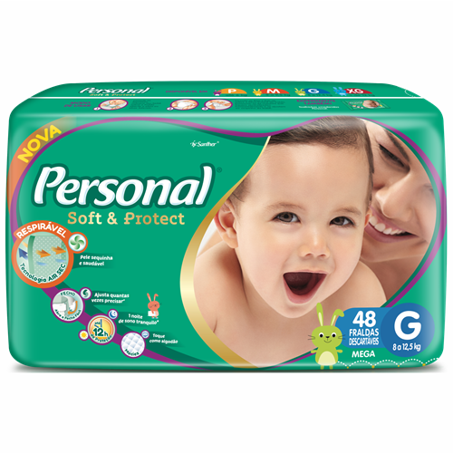 FRALDA PERSONAL BABY MEGA G 1X48UN