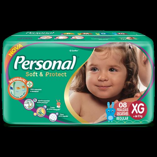 FRALDA PERSONAL BABY REGULAR XG 1X8UN