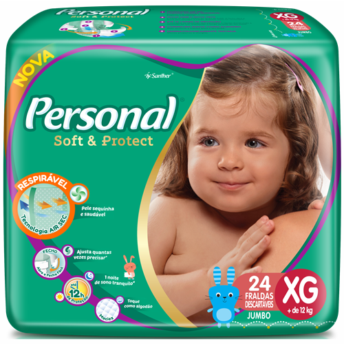 FRALDA PERSONAL BABY JUMBO XG 1X24UN