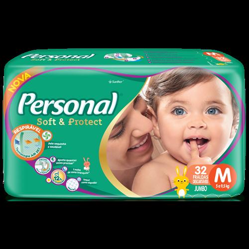 FRALDA PERSONAL BABY JUMBO M 1X32UN