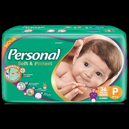 FRALDA PERSONAL BABY JUMBO P 1X36UN
