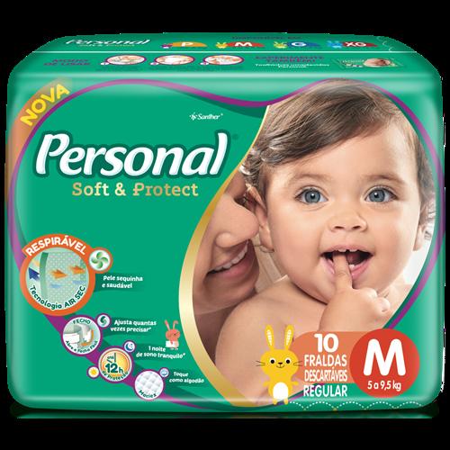 FRALDA PERSONAL BABY REGULAR M 1X10UN
