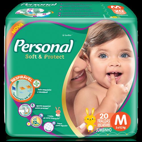 FRALDA PERSONAL BABY JUMBINHO M 1X20UN
