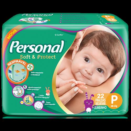 FRALDA PERSONAL BABY JUMBINHO P 1X22UN