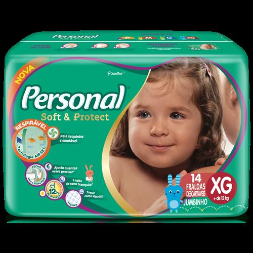 FRALDA PERSONAL BABY JUMBINHO EX 1X14UN