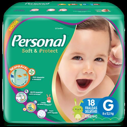 FRALDA PERSONAL BABY JUMBINHO G 1X18UN