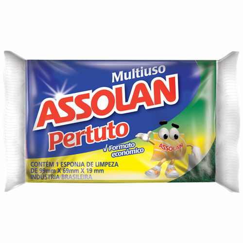 ESPONJA SINTETICA ASSOLAN PERTUTO C/1UN
