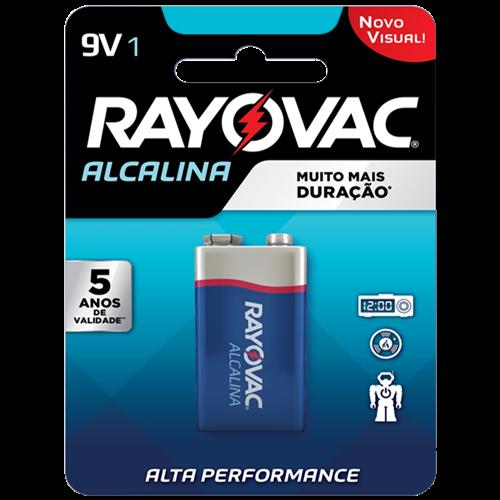 BATERIA RAYOVAC ALCAL CART/1 9V