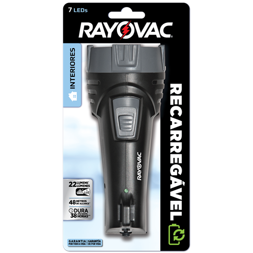 LANTERNA RAYOVAC RECARREGAVEL 7 LEDS