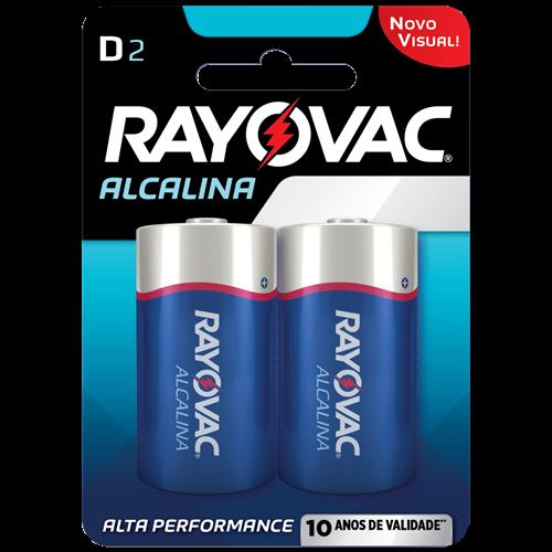 PILHA RAYOVAC ALCAL GRANDE CART/2 D