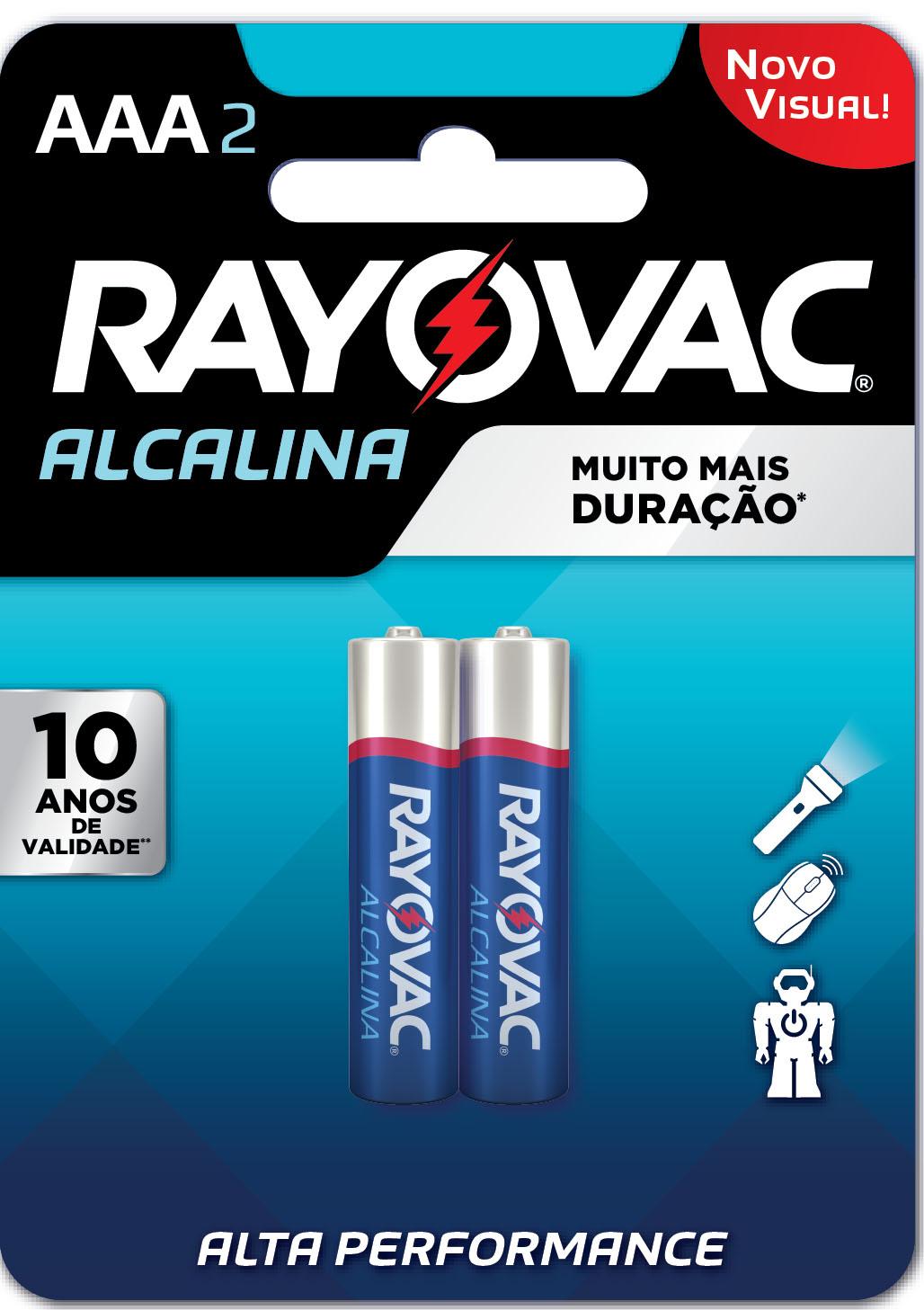 PILHA RAYOVAC ALCAL PALIT CART/2 AAA2