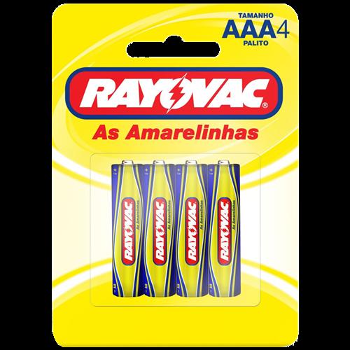 PILHA RAYOVAC ZINCO PALIT CART/4 AAA4