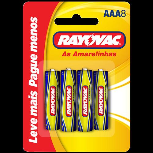 PILHA RAYOVAC ZINCO CART/8 AAA8 LV+ PG-