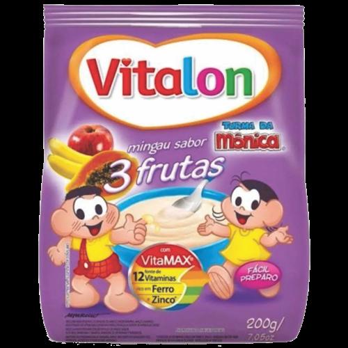 MINGAU VITALON 3 FRUTAS SACHET 200G