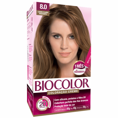 BIOCOLOR KIT LOURO CLARO RADIANTE 8.0