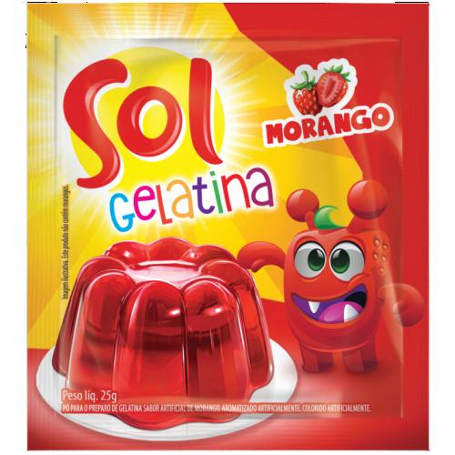 GELATINA MORANGO SOL DISPLAY 25G
