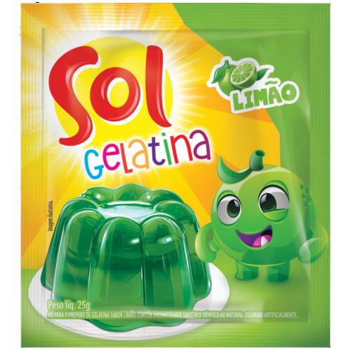 GELATINA LIMAO SOL DISPLAY 25G