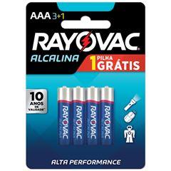 PILHA RAYOVAC ALCAL CART/4 LV4P3 AAA43