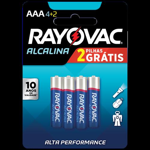 PILHA RAYOVAC ALCAL PAL C/6 LV6P4 AAA4+2