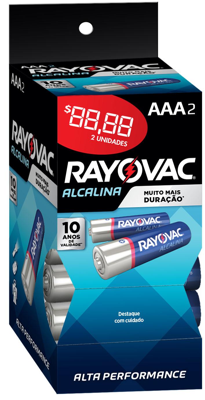 PILHA RAYOVAC ALCAL TUBO AAA2 C/32