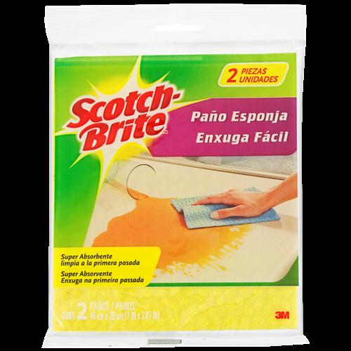 PANO SCOTCH BRITE ENXUGA FACIL C/2