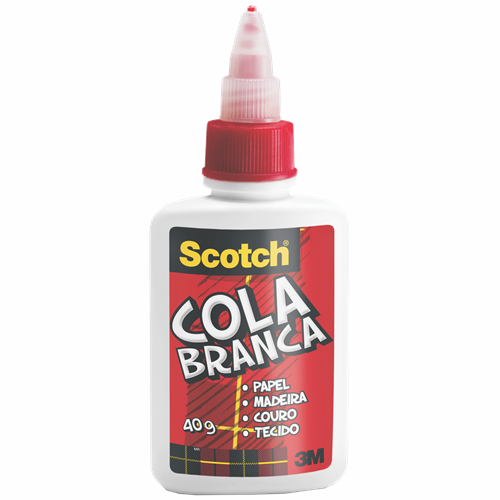 COLA SCOTCH BRANCA 40G