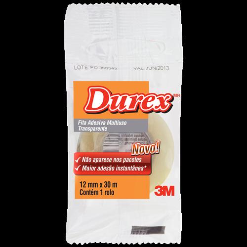 DUREX TRANSPARENTE 3M 12MMX30M FLOW PACK