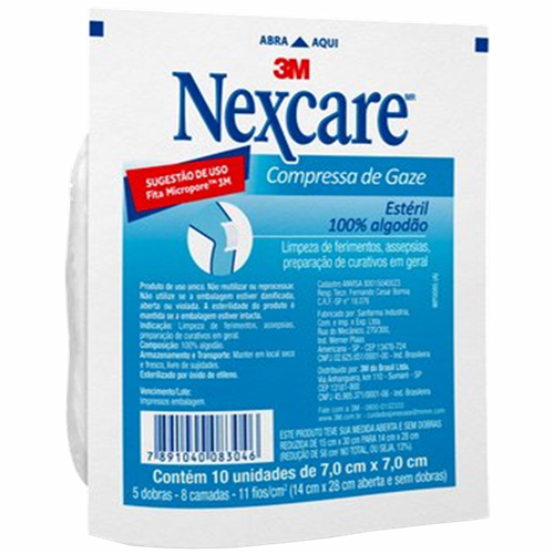 COMPRESSA DE GAZE ESTERIL NEXCARE C/5UN