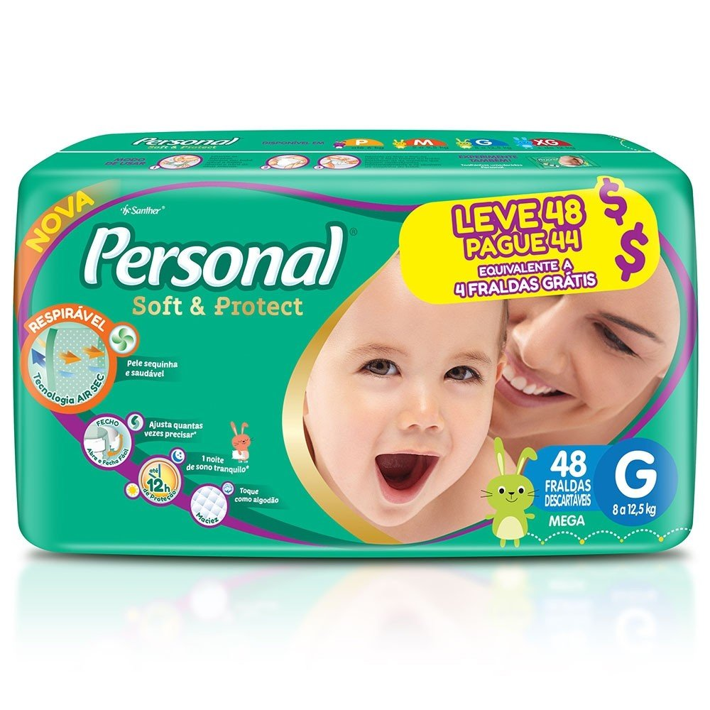 FRALDA PERSONAL BABY MEGA G LV48PG44