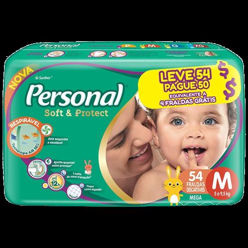 FRALDA PERSONAL BABY MEGA M L54PG50