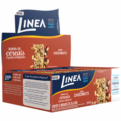 BARRA LINEA NUTS COB CHOCOLATE 12X20G