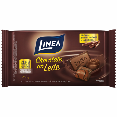 CHOCOLATE LINEA CULIN AO LEITE 250G