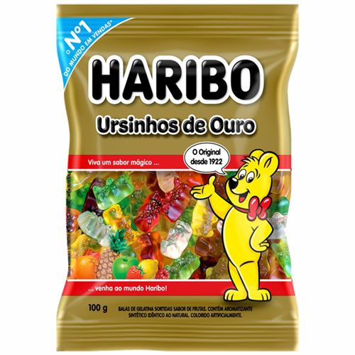 BALA DE GELATINA HARIBO URSINHOS 100G