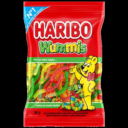 BALA GELATINA HARIBO WUMMIS 100G