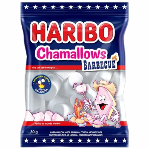 MARSHMALLOW HARIBO BARBECUE 80G