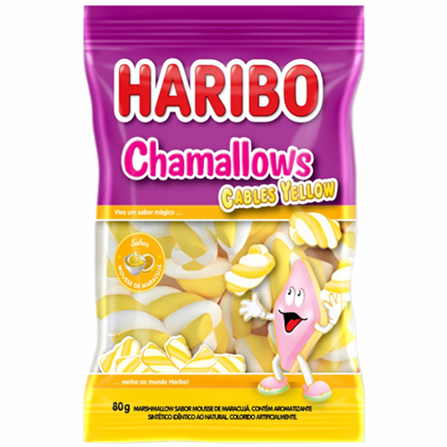 MARSHMALLOW HARIBO CABLE YELLOW 80G