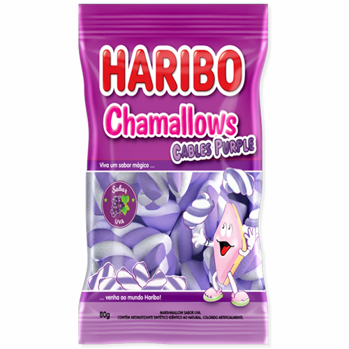 MARSHMALLOW HARIBO CABLE PURPPLE 80G